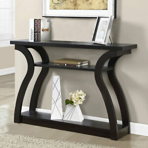 Modern Console Table 47quot; Wall Contemporary Entryway Storage Furniture Wood Shelf $181.78