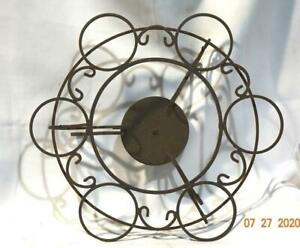 Vintage Wrought Iron Metal Turntable Lazy Susan Condiment Serving Dishes #17 $45.99