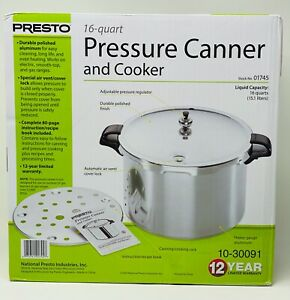 Presto 16 Quart Pressure Canner and Cooker 01745 FREE FAST SHIP New In Box