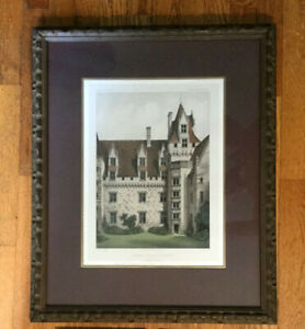 Antique Victor Petit Hand Colored French Lithograph No. 73 $125.00