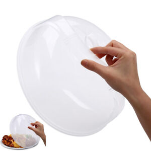 Plastic Microwave Plate Cover Clear Steam Vent Food Dish Splatter Lid 10.25quot;