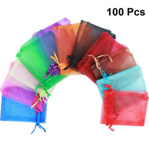 100pcs Gift Bag Durable Drawstring Gift Bags Candy Pouch for Wedding Banquet
