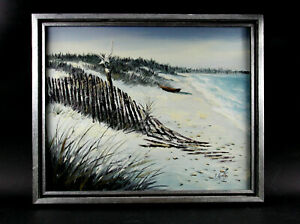 Original Framed Oil Painting Of A Seascape Signed By Artist $140.00