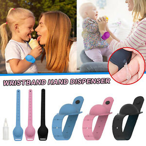 3pcs Portable Bracelet Wristband Hand Soap Dispenser Band Squeeze With Bottle