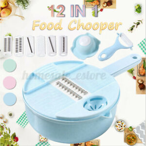 12 IN1 Multi function EASY FOOD CHOPPER Mandoline Vegetable Cutter Food