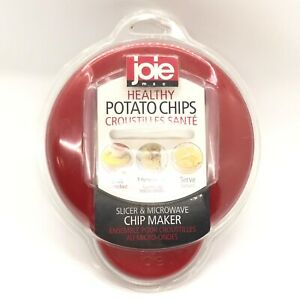 Red Joie Healthy Microwave Potato Chip Maker Slicer Cooker New Sealed