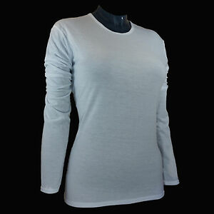 Hot Chillys Womens Base Layer Top Pepper Skins Crew White PS3600 Size Large $5.99