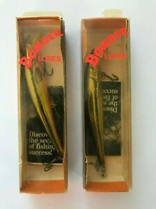 NEW IN BOXES Bomber Lures Long A Shallow Runner NOS 15A X MKO GOLD 3 8oz