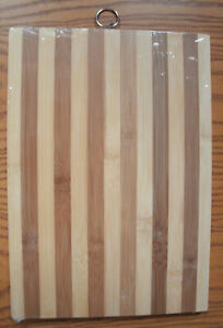 Quality Bamboo Cutting Board Various Sizes All 5 8quot; Thick. NEW SEALED WRAP