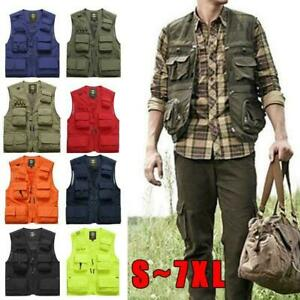 Best Fishing Vest Mesh 16 Pockets Photography Quick 1pc Jacket Dry V2H6