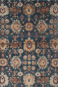 Hand knotted Carpet 5#x27;9quot; x 8#x27;9quot; Transitional Wool Silk Rug $299.00