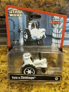 ***PARK EXCLUSIVE DISNEY CARS STAR WARS TRACTOR as STORMTROOPER*** $29.99
