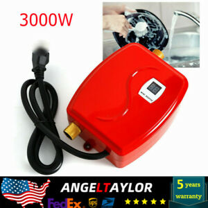 Mini Tankless Instant Electric Hot Water Heater Shower Red 110V 3000W US Stock