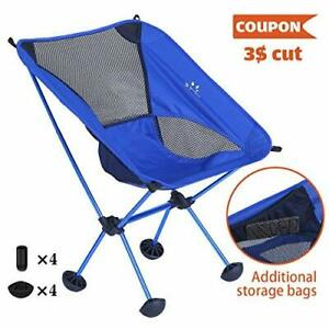 FRUITEAM Camping Chairs Folding Hiking Picnic Portable Camp Chair with Carry Bag
