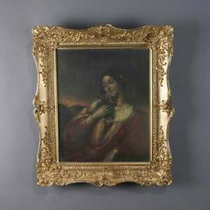 ANTIQUE VICTORIAN OIL PORTRAIT PAINTING OF A LOVELY MAIDEN $1350.00