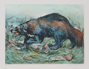 Everett E. Hibbard Wolverine Lithograph signed and numbered in pencil $350.00