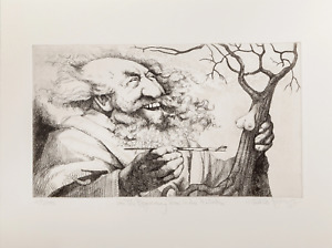 Charles Bragg In the Beginning There Were Mistakes Etching signed numbered $245.00