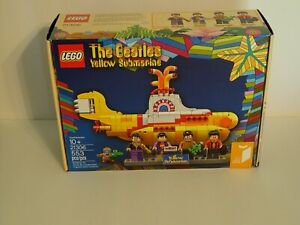 LEGO Ideas THE BEATLES Yellow Submarine 21306 NEW in Box Factory Sealed Retired $149.95