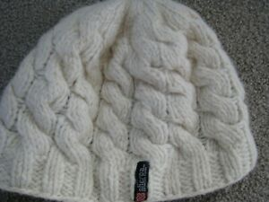 Sherpa Adventure Gear Wool Cable Knit Beanie Hat One Size Cream