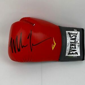Autographed Signed MIKE TYSON Red Everlast Boxing Glove Athlete Hologram COA $134.99