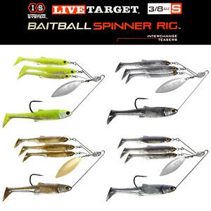 Live Target BaitBall Spinner Rig Umbrella Rig Bass Fishing CHOOSE YOUR COLOR