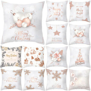 Christmas Thanksgiving Gift Square Cushion Cover Home Sofa Bed Pillow Case Decor