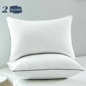 White Soft Down Pillows for Sleeping 2 Pack Luxury Bed Pillows Queen King Size $28.99