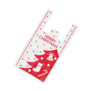 100pcs Gift Bag Plastic Creative Portable Candy Pouch Storage Bag for Christmas