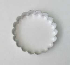 3.25quot; Fluted Scalloped Circle Round Cookie Cutter Tart Biscuit Pastry Tin Steel
