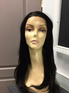 Flaunt STRAIGHT SHOOTER Long Lace Front Wig Color 2 Dark Brown $39.99