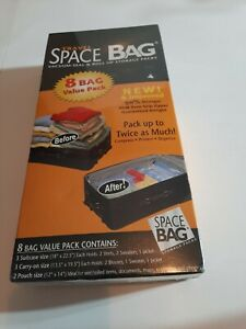 Travel Space Bag Roll out the air and double the space 8 Bag Value Pack Sealed