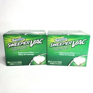 2x Swiffer Sweeper Vac Vacuum Replacement Filters 2 Packs 4 Total New