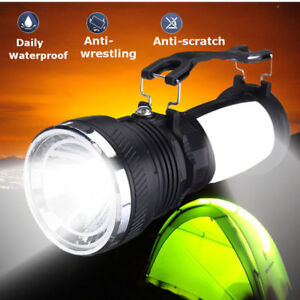 Solar Power Rechargeable LED Flashlight Camping Tent Lights Lantern Lamp Outdoor