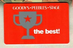 GOODY#x27;S PEEBLES STAGE The Best 2013 Gift Card $0
