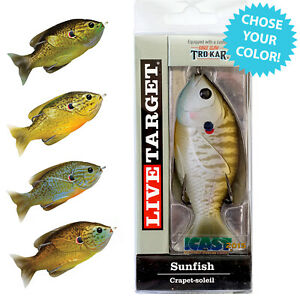 NEW Live Target Sunfish Bluegill Topwater Lure 3 1 2quot; 5 8 OZ Choose Your Color