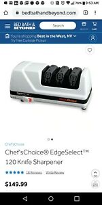 Chefs Choice EdgeSelect 120 Electric Knife Sharpener 3 Stage Diamond Hone Plus