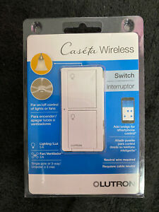 Lutron Caseta Wireless Smart Lighting Switch White PD 5ANS WH R