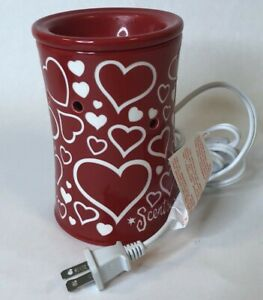 SCENTSY New Premium I Heart You ❤️Full Size Wax Warmer Retired VALENTINES Day