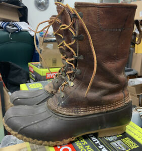 """Vintage LL Bean Duck Hunting Boots Mens 9 9.5 Gore Tex Thinsulate Insulated 8"""""""