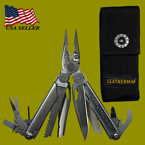 Leatherman Wave Plus Multi Tool Stainless with Black Nylon Sheath 832531