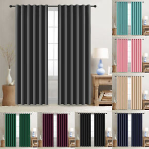 2 Panels Blackout Window Curtains Thermal Insulated Drapes for Bedroom 52Width