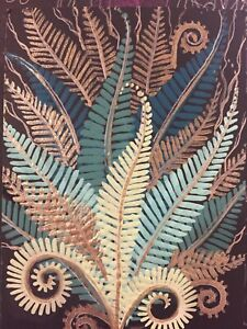 Original Painting ACEO Art Card 2.5 x 3.5 Signed Botanical Fern Leaf $9.99
