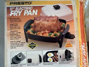 PRESTO 11quot; ELECTRIC FRY PAN NEVER USED NEW IN BOX VINTAGE SMALL Camping Skillet