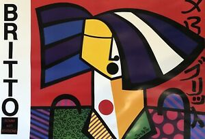 36quot; x 24quot; lithograph of JAPANESE WOMAN by ROMERO BRITTO Romm Art Editions 1992 $99.99