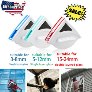 Double sided Window Cleaning Tool Magnetic Window Brushes Glass Wiper Cleaner