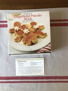 Nonstick Gingerbread Pancake Molds