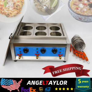 Commercial Electric Noodle Cooking Machine Pasta Cooker Noodle Boiler 6Hole $53.77