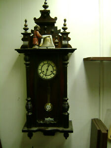 Rare Junghans German Antique with Animated figure hitting gong project 40 inch $1200.00