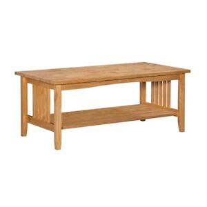 Riverbay Furniture Wood Coffee Table in Natural Brown $123.98