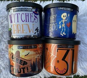 Huntington Home Aldi 4 Candle Lot Halloween 2020 Limited Edition Scents